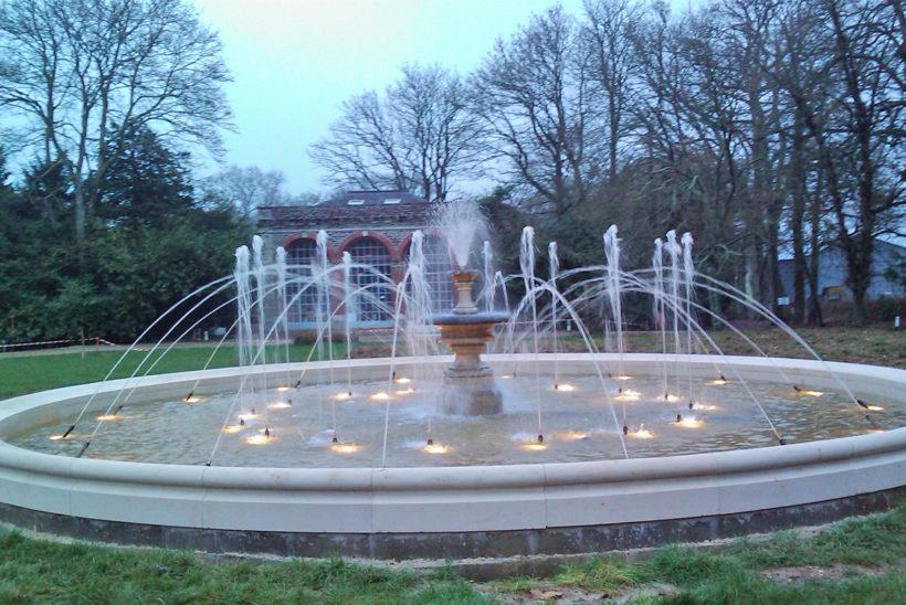 Fontaine bassin cascade